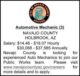 Navajo County Help Wanted